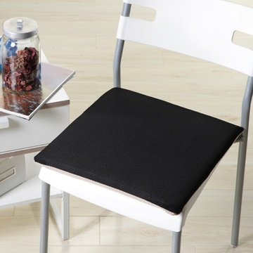 春夏网格透气凳子坐垫方形防滑三明治椅子垫硬质棉办公室学生坐垫图片
