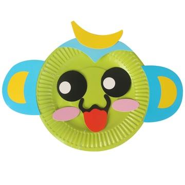 幼儿园diy手工粘贴彩色纸盘 儿童动手能力培养 ef25466(猴子)