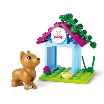 小鲁班 塑料diy拼插玩具 立体3d积木益智儿童玩具女孩玩具粉色梦想