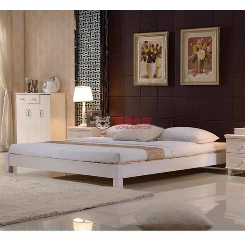 现代风格实木床的款式图片