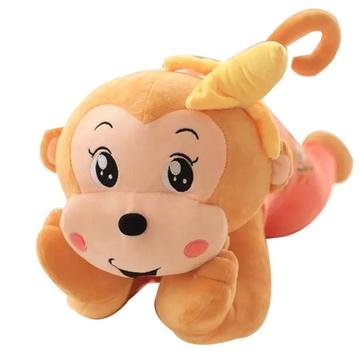 卡通可爱猴子 毛绒玩具 趴趴猴创意玩具 生日礼物 情人节礼物(粉红色
