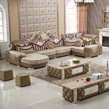 俏夫人 欧式沙发组合 大户型家具 新古典客厅家具 可拆洗 9168(1+3+右图片