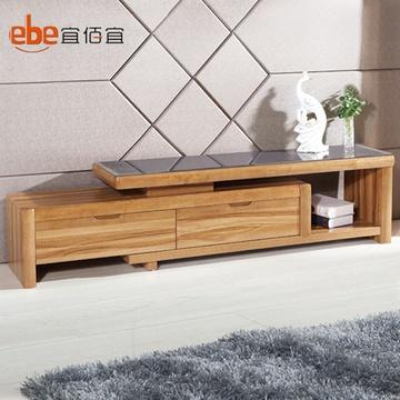 实木电视柜茶几组合 钢化玻璃电视柜茶桌