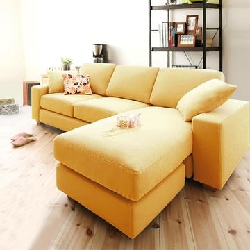 奥古拉 布艺沙发 可拆洗双人沙发床 日式简约小户型 多色可选(棉麻布