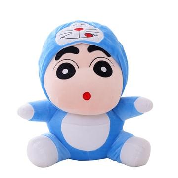 可爱蜡笔小新公仔变身机器猫毛绒玩具布娃娃玩偶生日礼物女生(其他 主