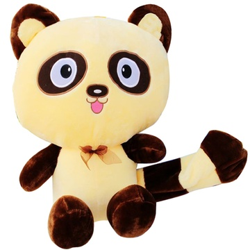 大眼可爱卡通大脚浣熊布娃娃玩偶公仔毛绒玩具抱抱熊礼物(其他 较小