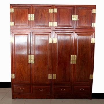 红木家具2米红木顶箱柜实木大衣柜大衣橱宜家非洲黄