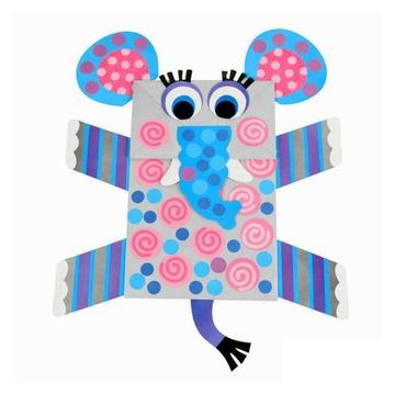 动物纸袋手偶纸偶儿童手工制作幼儿园