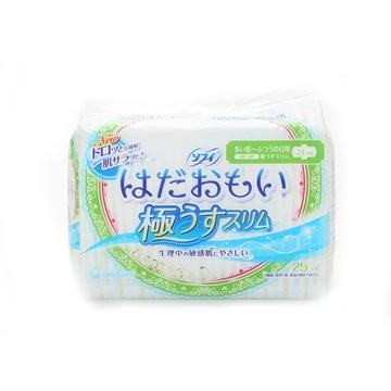 日本直采 SOFY苏菲超薄贴身纤巧绵柔卫生巾210*25片 敏感肌温柔肌轻薄型 比超薄还薄(210mm 25片)