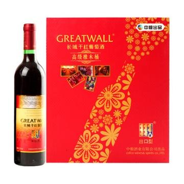 【长城葡萄酒】长城高级橡木桶干红礼盒