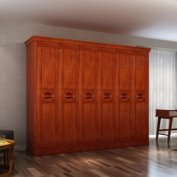 卧室实木衣柜 整体大衣橱