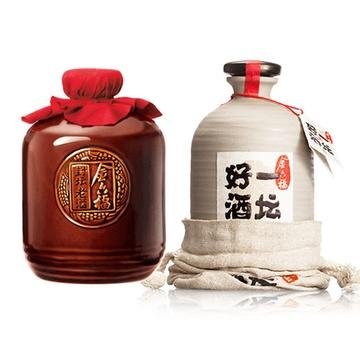 一坛好酒logo_【四川金六福白酒】一坛好酒( 40.8度 500ml 白酒1 )+