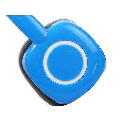 蓝色话筒剪影素材