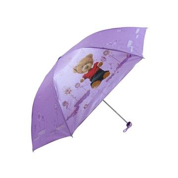 遮阳伞(紫色)(卡通伞面)