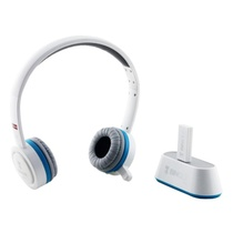 宾果(Bingle)N600-TV 耳机无线多功能头戴式耳机(白色)(RCA+3.5mm双音源输入,2.4G高保真CD音质传输,支持一对多传输功能,丰富的多媒体控制键)