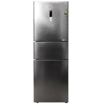 三星(SAMSUNG) BCD-285WMQI7TM 285升L变频 三门冰箱(银色) 风冷无霜