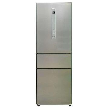 夏普(SHARP) BCD-293WB-S 293升L变频 三门冰箱(银色) 风冷无霜