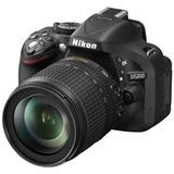尼康(Nikon) D5200 单反套机(AF-S DX 18-105mm f/3.5-5.6G ED VR 防抖镜头)黑色