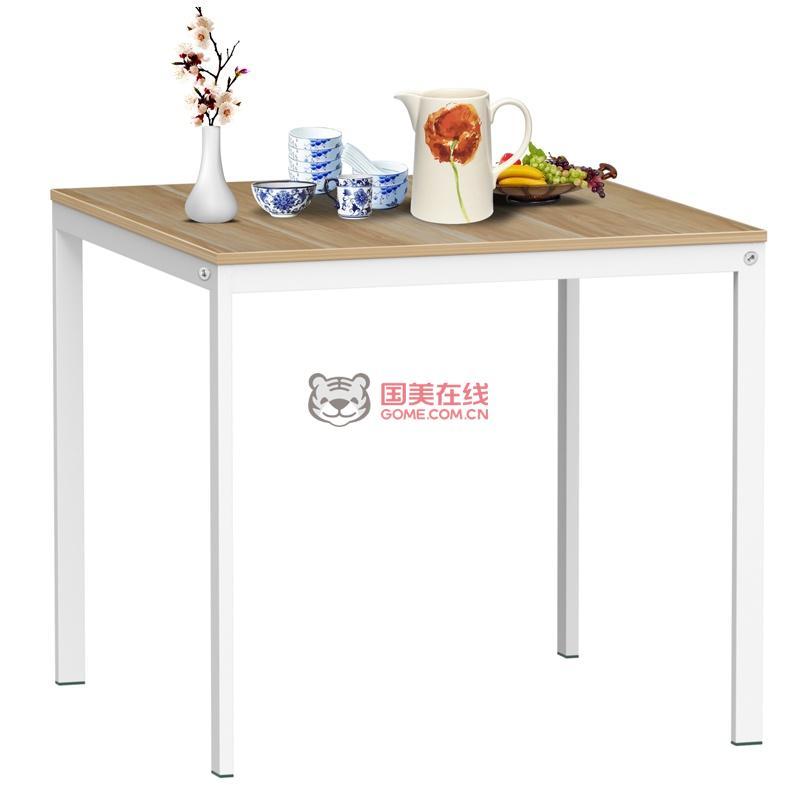 方形餐桌(木纹色)-国美团购