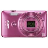尼康(NIKON) Coolpix S6900 便携数码相机(粉色)约1,602万有效像素,尼克尔带12倍光学变焦镜头,显示屏分辨率约46万画点、TFT LCD显示屏带防反射涂