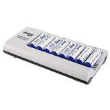 雷摄(LEISE)818 多槽充电套装包含(5号2700毫安充电电池X8节+八槽充电器X1+电源线X1)