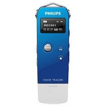 飞利浦VTR5600/93 Voice Tracer数码录音笔 宝石蓝(4G内存 一键录音 数字降噪 声控录音 USB直插 )