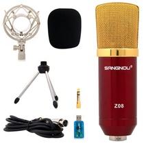 双诺 Z08专业电容有线麦克风(红色)高效过滤海绵 低输出阻抗 心型指向性 适用于:网络K歌、个人电脑录音及乐器录音等场合使用~~